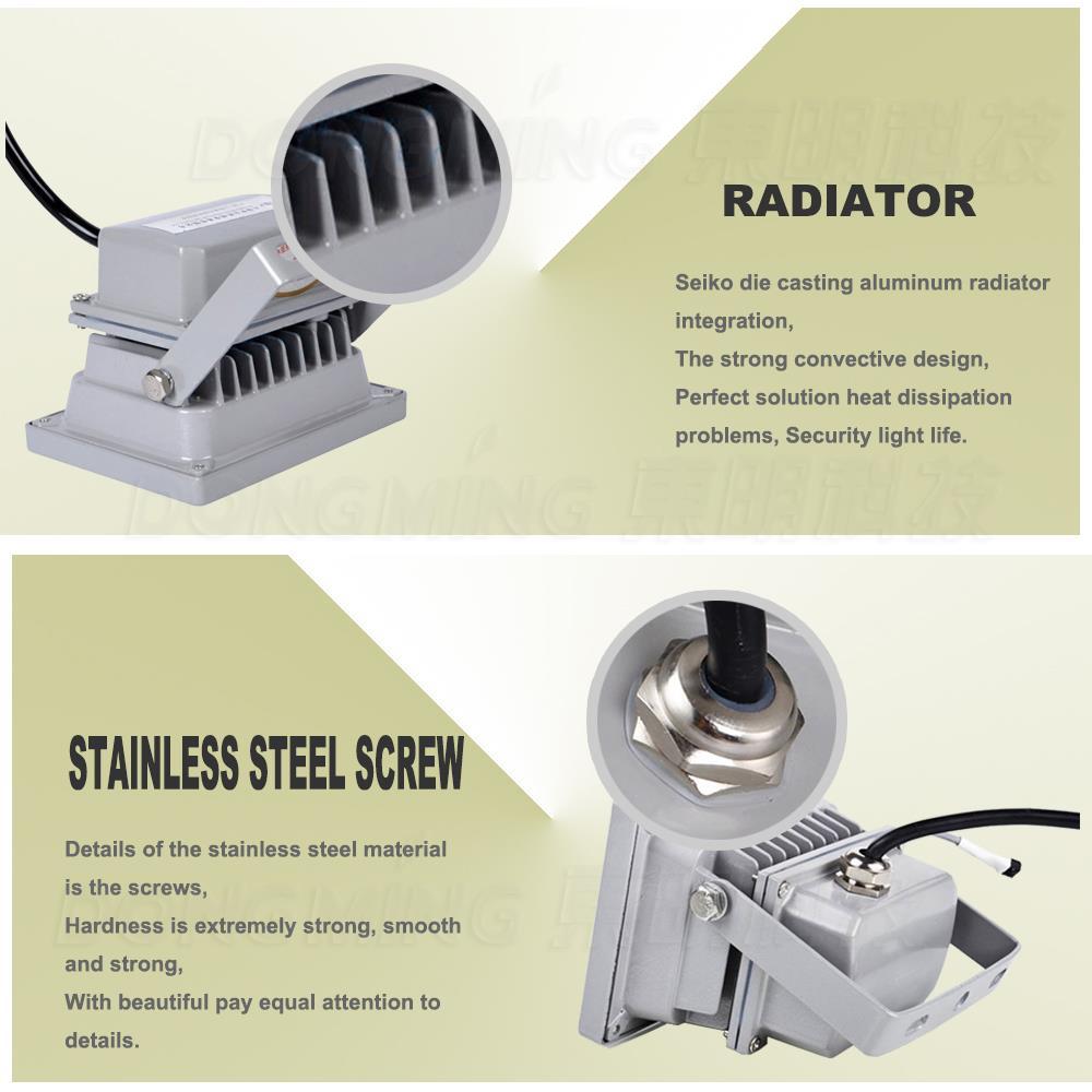 Best product 10W LED Floodlight Outdoor Lighting silver shape RGB led spotlight Waterproof IP65 DC12V LED lighting