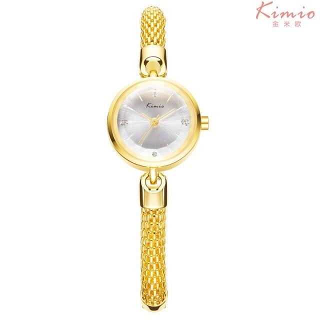 82db2d56246a Kimio новый люксовый бренд кварцевые наручные часы для женщин золотой  Горный ...