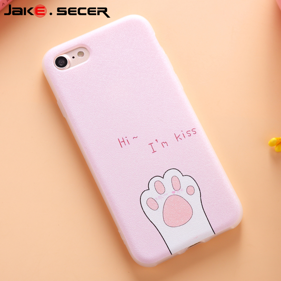 Girly Pink Color Soft Silicone Back Cover Cases For Apple iphone 6 6 s plus 6plus 7 7plus 4.7