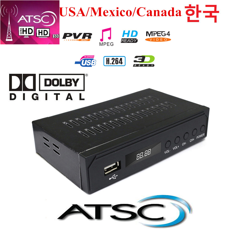 Mexico Receiver Canada Receiver ATSC Terrestrial HD Digital TV Tuner DVR USA Korea