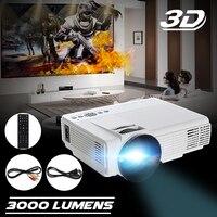 3000 Lumens HDMI LED Projector 3D 1080P Full HD VGA USB Home Theater Multimedia