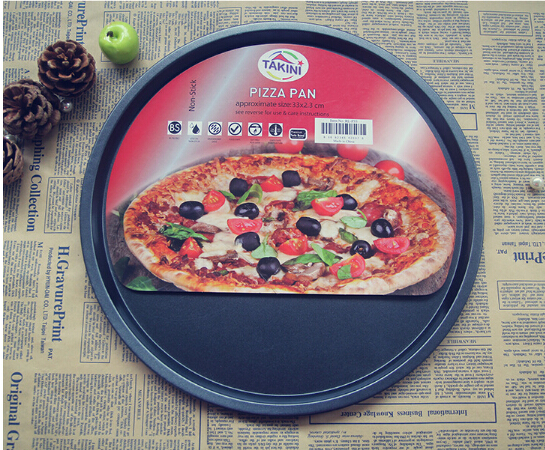 Pizza-Pan Baking-Roasting-Mold 12inch Bakeware Non-Stick Round-Plate Carbon-Steel 0503