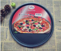 1PC 12 inch Carbon Steel Pizza Pan Non Stick Round Plate Cake Pizza Tray Baking Roasting Mold Easy Demolding Bakeware JC 0503