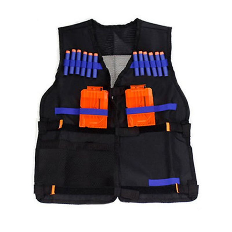 Blouses & Shirts Just Adjustable Tactical Vest With Storage Pockets Toy For Nerf N-strike Elite Team Lustrous