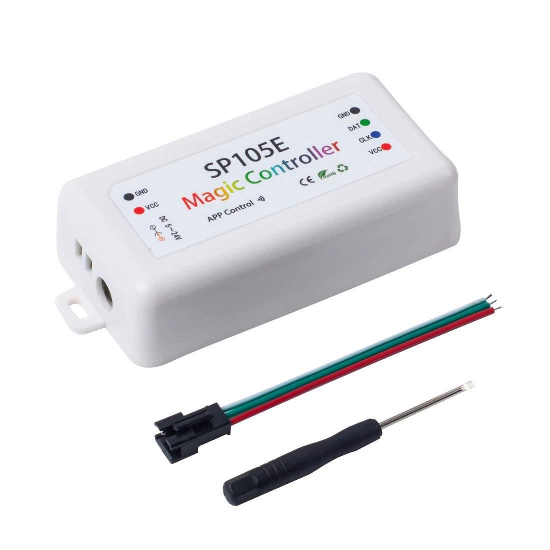 Rgb-controller Sonderabschnitt Sp105e Wireless Bluetooth Controller App Ws2811 Ws2812b Ws2801 Sk6812 Apa102 Einzeln Adressierbaren Programmierbare Led Streifen Pix