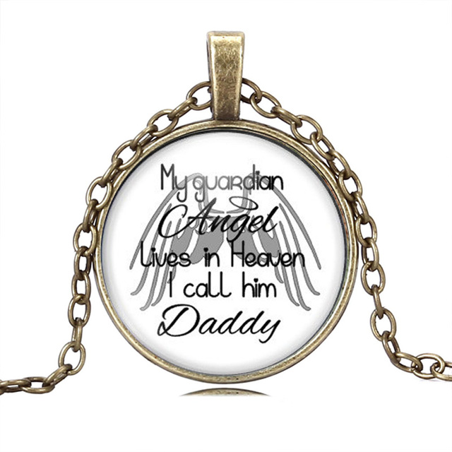2f8faf4778 JEPHNE Dad Memorial Necklace In Loving Memory Remembrance Bereavement Gift my  guardian angel lives in heaven