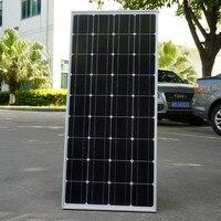 100 США наличии 2018 Вт монокристаллическая солнечная панель для В 12 В батареи RV лодка, автомобиль, дома солнечной энергии и бесплатная доставк