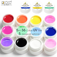 GDCOCO Nail Art Tips DIY Design Manicure 36 Color UV LED Soak Off DIY Paint Color Ink UV Gel Varnish Nail Gel Polish Lacquer Gel