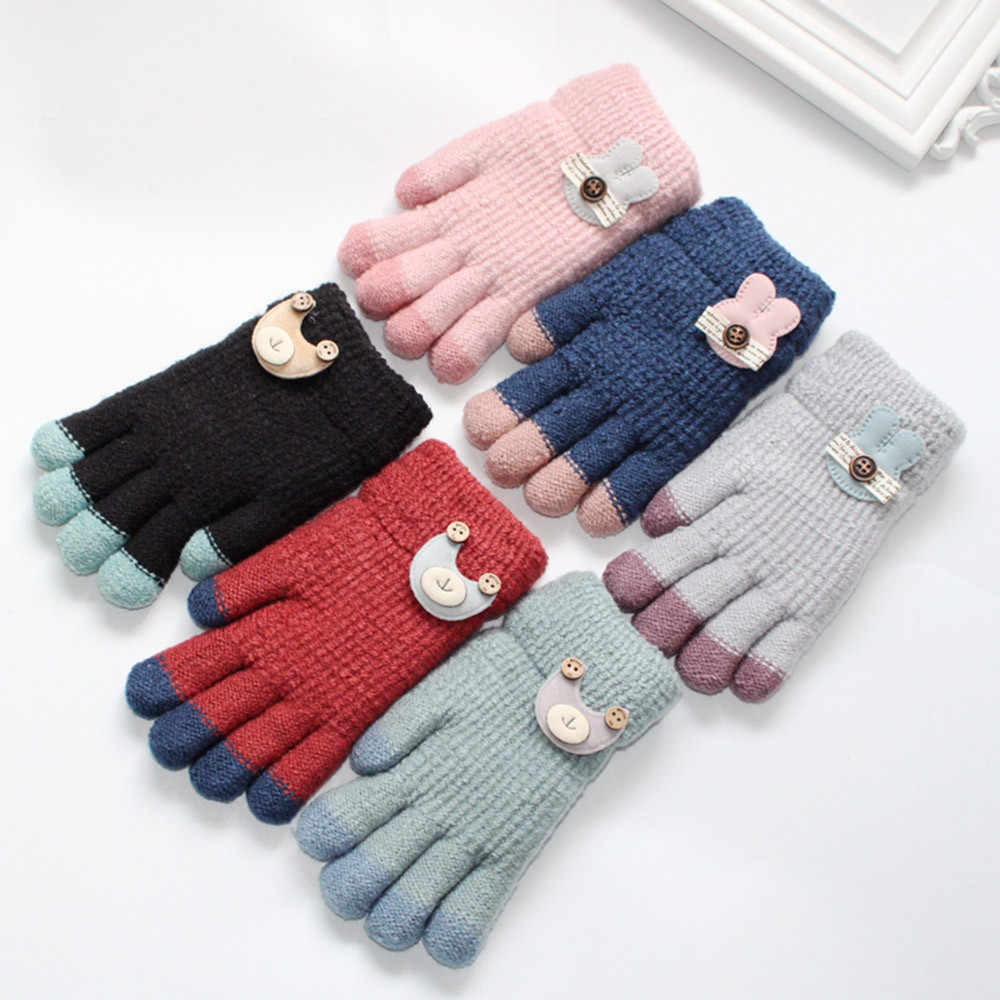 low priced official photos run shoes Toddler Baby Gloves Thicken Baby Girls Cartoon Full Finger ...