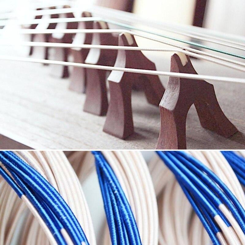 סט אחד ניילון ססגוני כלי נגינה סיני מחרוזת Guzheng 1-21 # פלדה