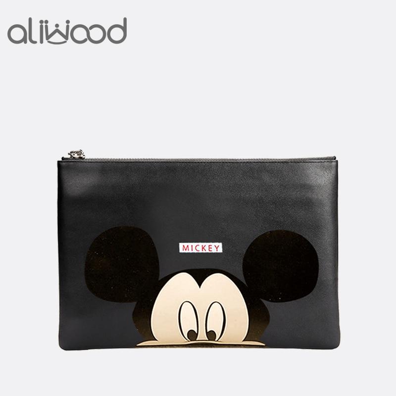 Hello Kitty Women Messenger Bags Minnie Mickey Cartoon Printing Envelope Bag PU Leather Handbags Shoulder Bags Bolsas Feminina