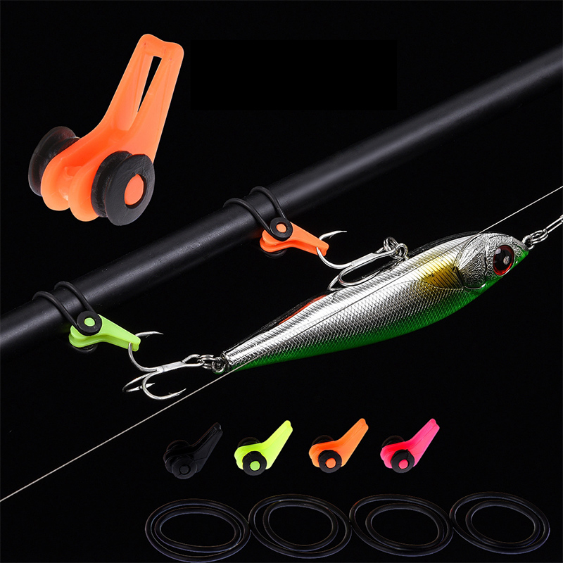 Durable Fishing Rod Pole Hook Keepers Holders Lures Hooks Safe Keeping For Lures Bait Fishing Rods Shackle