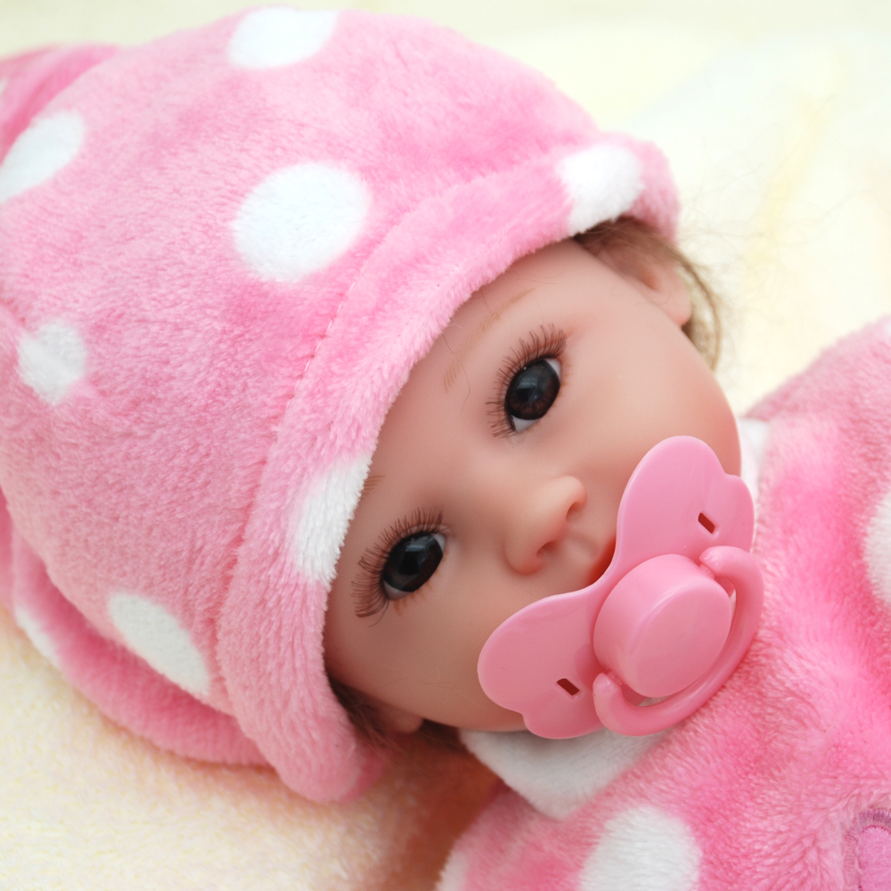 NicoSeeWonder 16 Inch Boneca Bebe Reborn Baby Dolls 42 cm Lifelike Soft Silicone Reborn Toddler With Pink Plush Clothes For Gift short curl hair lifelike reborn toddler dolls with 20inch baby doll clothes hot welcome lifelike baby dolls for children as gift