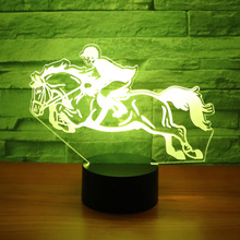 3D LED Night Light Ride a Horse Riding with 7 Colors Light for Home  Decoration Lamp b59fb8bc7bf3