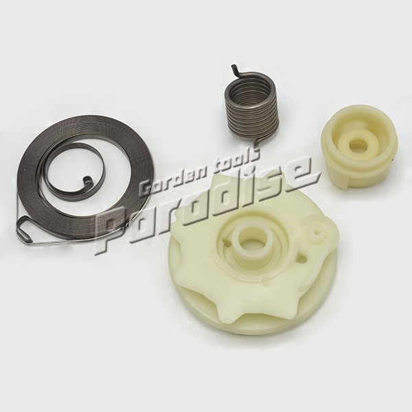 HUS137 HUS142 Chainsaw Starter Parts Including Starter Pulley,Starter Small Spring, Starter Big Spring with Free Shipping chainsaw piston assy with rings needle bearing fit partner 350 craftsman poulan sm4018 220 260 pp220 husqvarna replacement parts