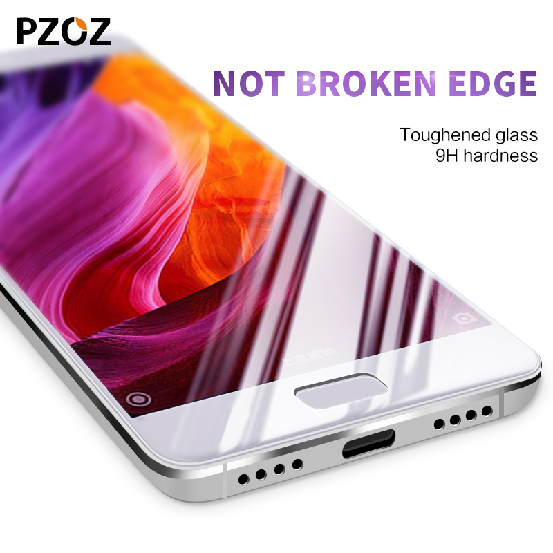 Pzoz xiaomi mi5 glass tempered cover prime screen protector xiomi mi5 original Clear phone film xaomi mi 5 glass 32gb 64gb color