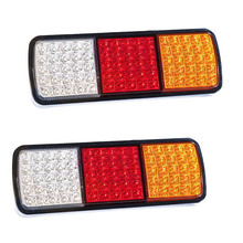 1 Pair Car LED Tail Lights Stop Indicator Light for Automobiles Truck Trailer Universal 12V Taillight Red Yellow White
