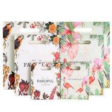 10 шт./лот прекрасный Фламинго богатый принт с птицами бумажный мешок DIY прозрачный конверт мешок