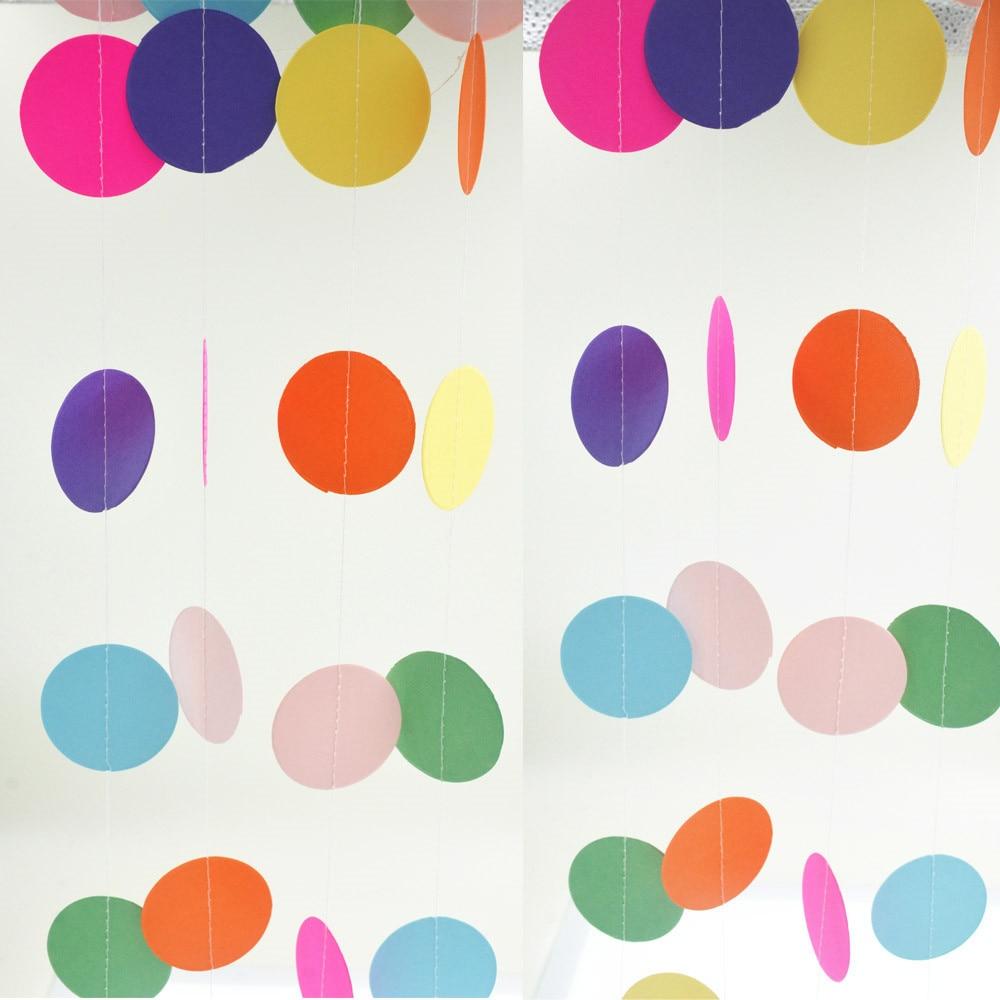 Папир гренландске жице Круг вјенчање за бебе Туш за висеће украсе 9 боја Ново креативно уређење собе 2ком