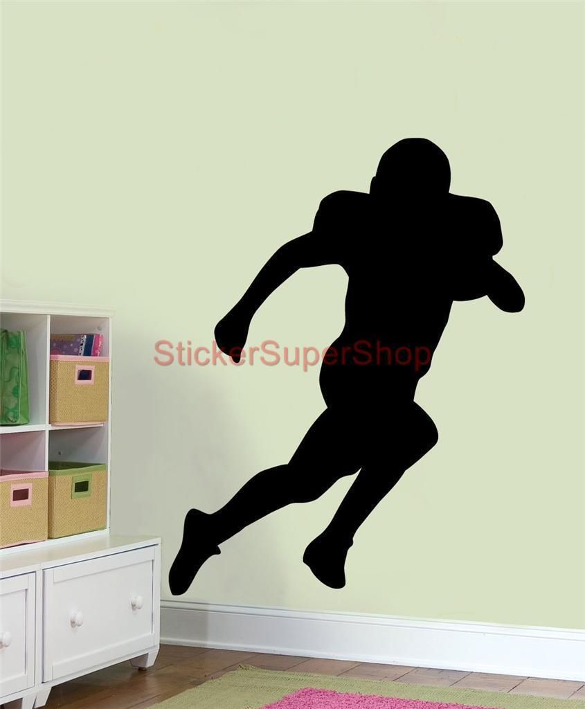 Woman silhouette decal removable wall sticker home decor art ebay - D0110 American Football Silhouette Decal Personalised Name Wall Sticker Decor Art China Mainland