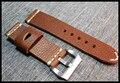 24mm Italia de Cuero Hecha A Mano 24mm Correa de Cuero Negro Vintage Brown Italia Becerro, Reloj Retro Correa De Pam Y Grande
