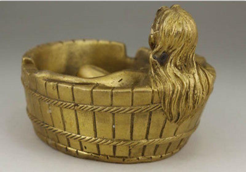 Chiny Miedź Egzorcyzmy Chiński Stary Handwork Naga kobieta - Wystrój domu - Zdjęcie 5