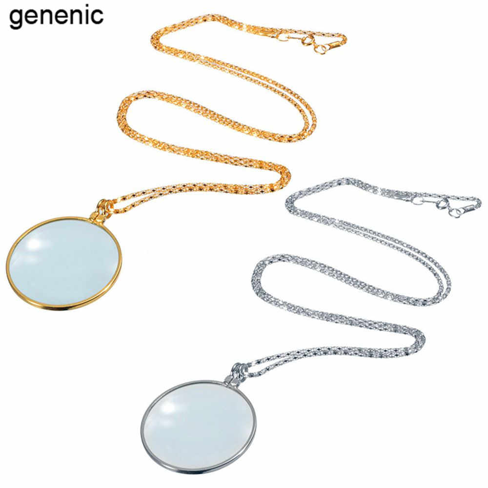 1PCS new style Fashion Utility Monocle Lens Necklace With 6x Magnifier Coin Magnifying beautiful Glass Pendant