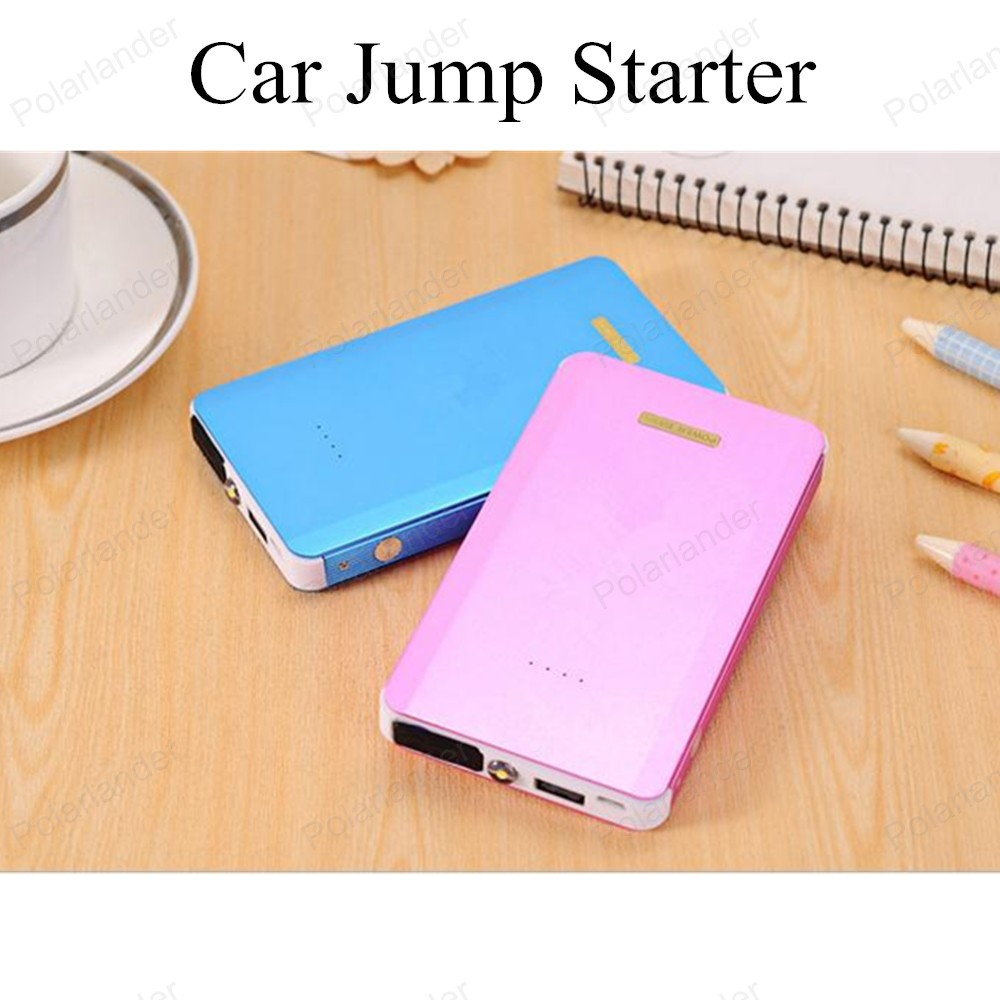 portable Car Jump Starter Mini Emergency Charger Battery Booster Power Bank for mobile phone laptop  2017 high capacity 15000mah car jump starter portable 12v car battery booster charger mobile 2usb power bank sos light free ship