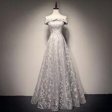 Новое поступление вечернее платье с горловиной лодочка длинное вечернее платье вечерние элегантные Праздничное платье Кепки рукава платья для выпускного вечера