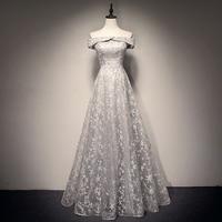 New Arrival Evening Gown Boat neck Long Evening Dress Party Elegant Vestido De Festa Cap Sleeves Prom Gowns