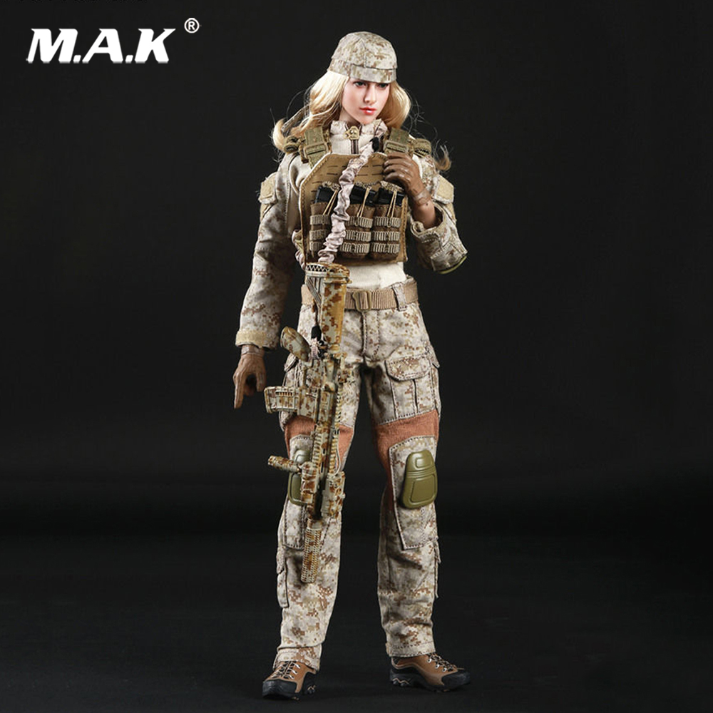 1/6 Action Figure Clothing Set American Seal CP Camo Female Soldier Set For 12