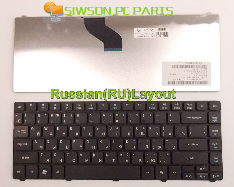 New Laptop Keyboard RU Russian Version for Acer Aspire 4540 4540G 4810 4810T 4820 4820T <font><b>4820TG</b></font> 4810TZ 4810TZG 4935 image