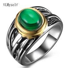 Прямая поставка с фабрики большие кольца зеленым камнем овальной