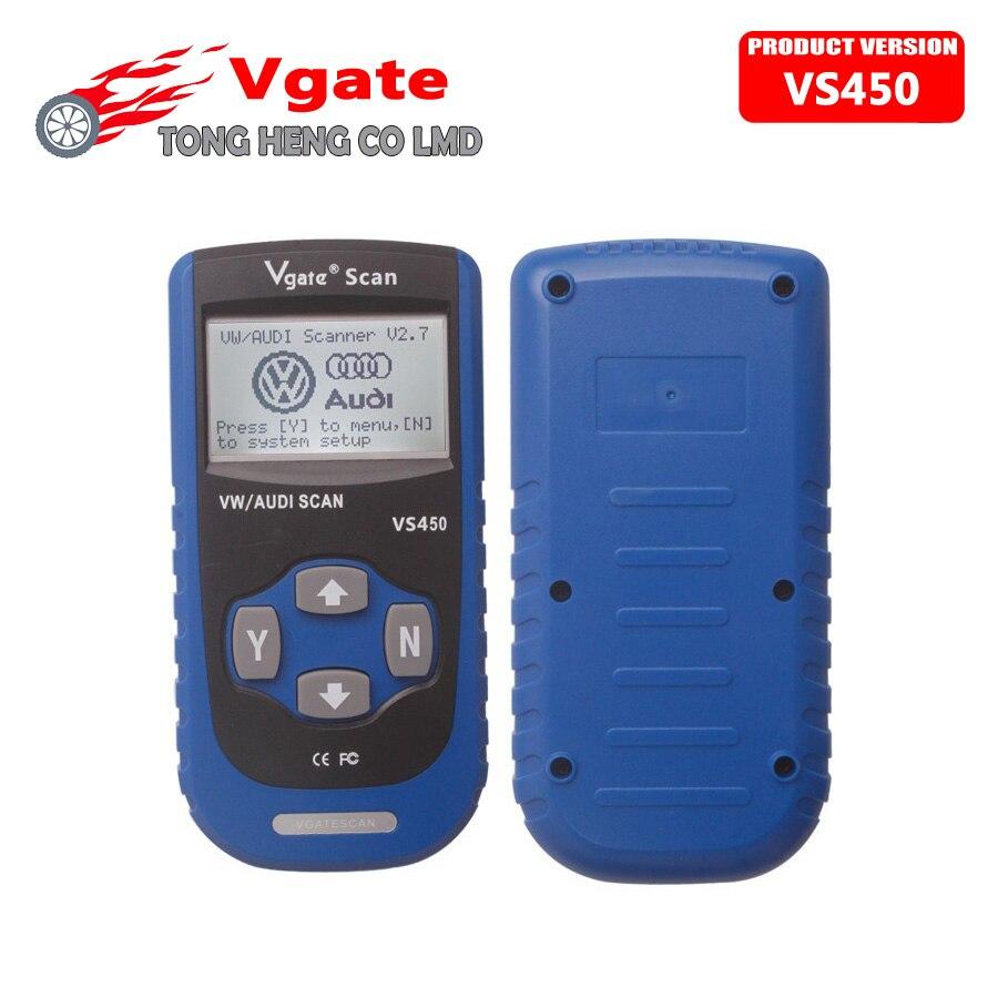 Prix pour Usine Prix Vgate Numérisation VS450 VS 450 pour VW VAG Scanner OBD2 Outil De Diagnostic Scanner Pour Voiture Scanners Automobile Diagnostic