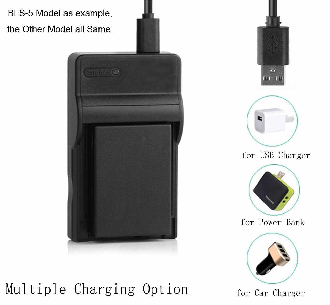 HDC-SD60S SDX1 Ultra Slim USB Battery Charger for Panasonic VW-BC10E HDC-SD60K