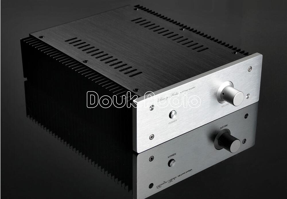 Douk Audio Aluminum Chassis DIY Case Amplifier Enclosure with Radiator 3206 amplifier aluminum rounded chassis preamplifier dac amp case decoder tube amp enclosure box 320 76 250mm