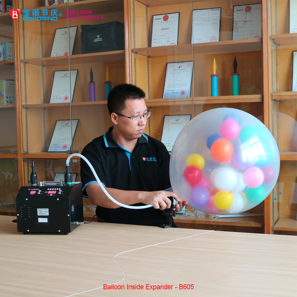 B605 free shipping wedding decoration insider balloon for Balloon decoration machine