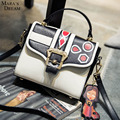 Mara's Dream Summer handbag fashion trends hit the color printing small square bag shoulder bag Messenger bag cartoon pendant