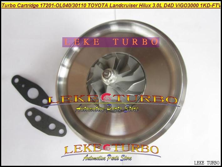 TURBO Cartridge CHRA CT16V 17201-OL040 17201-30110 17201-0L040 For TOYOTA Landcruiser Hilux D4D ViGO VGT 3000 1KD-FTV 3.0L 173HP free ship turbo cartridge chra ct16v 17201 ol040 17201 30110 turbocharger for toyota landcruiser hilux viigo 3000 1kd ftv 3 0l d