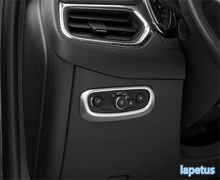 Lapetus Head Lights Lamp Headlamp Switch Button Decoration Frame Cover Trim 2 Color Fit For Chevrolet Equinox 2017 2018 2019 ABS lapetus auto styling matte carbon fiber style head headlamp light lamp switch button cover trim fit for toyota camry 2018 2019