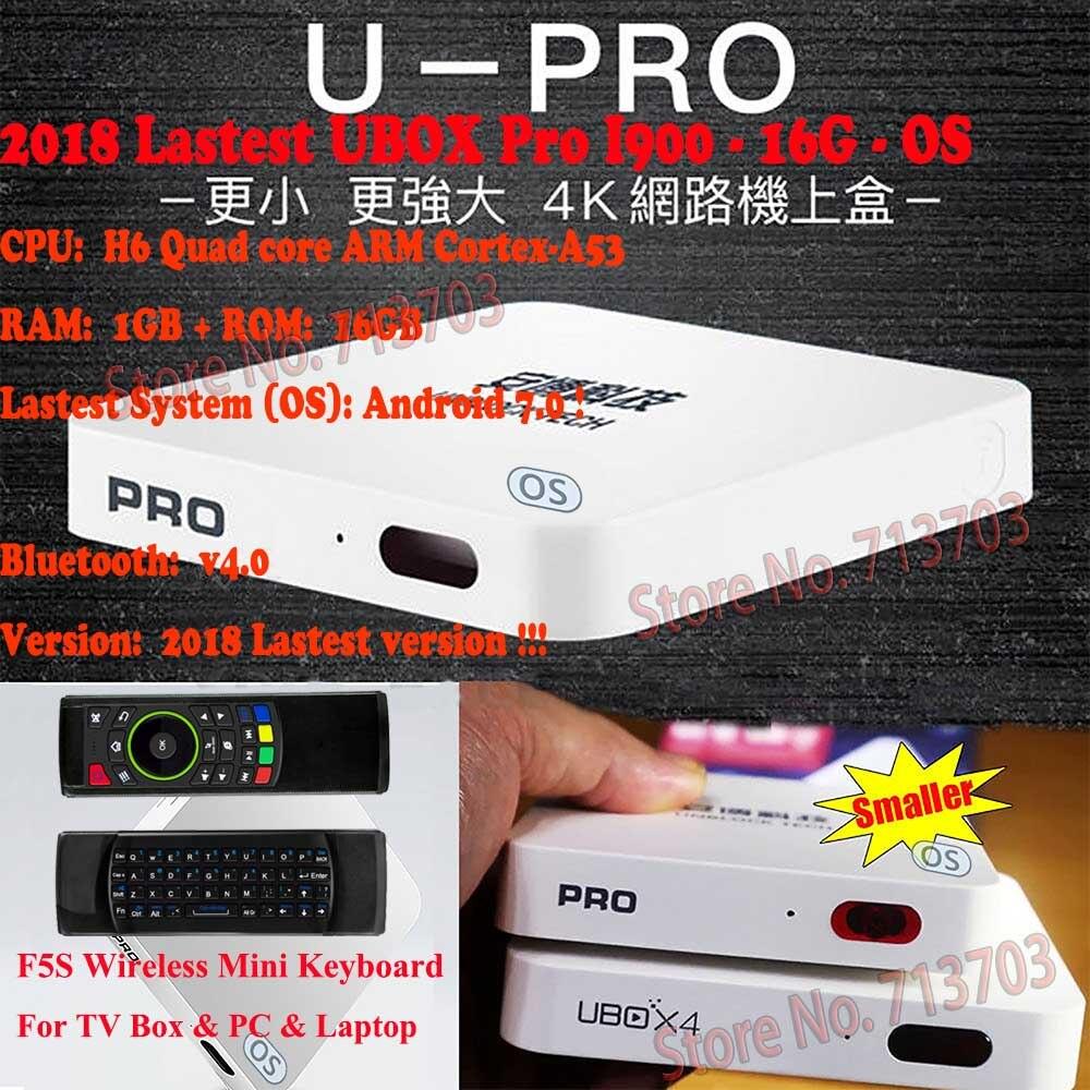 2019 IPTV Unblock UBOX 5 PRO I900 16G OS Android 7.0 Smart TV Box HD 4K japonais coréen malaisie HK TW 1000 gratuit canal de télévision en direct
