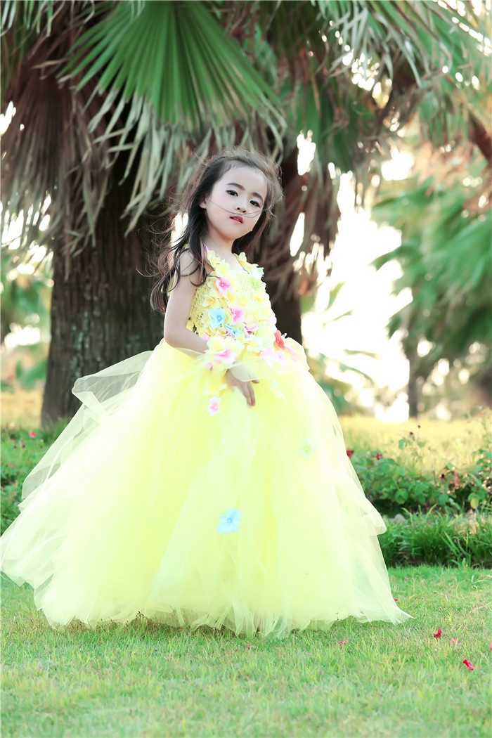 Princess Belle Flower Fairy Tutu Dress Kids Fancy Party Beauty Beast Cosplay Halloween Costume Girls Ball Gown Size 70-160 remax 2 in1 mini bluetooth 4 0 headphones usb car charger dock wireless car headset bluetooth earphone for iphone 7 6s android