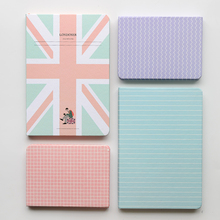 South Korea stationery creative students hand laptop notebook diary lovely hardcover books cute pure color