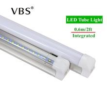 1Pcs LED Tube T8 2ft Integrated 10W Tube Lamp 600mm Led Bulbs Tubes AC85-265V SMD2835 High Brightness 1000lm Led Lighting Tubes