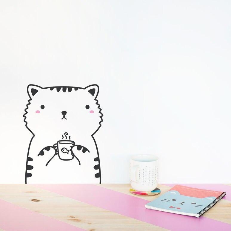 Минимализм Nordic милые животные тема DIY настенные Стикеры для детской комнаты обоев гостиных детский сад Домашний Декор Наклейки