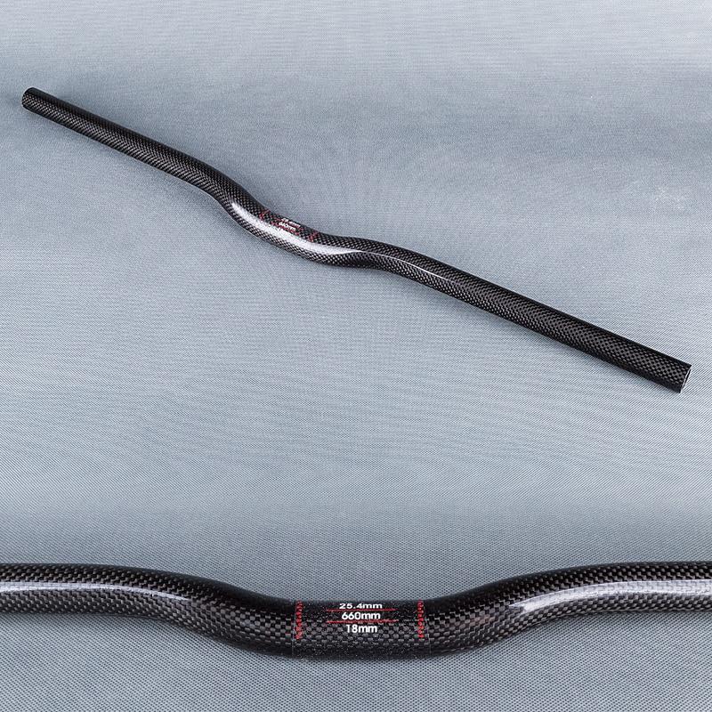 glossy 3k carbon fibre ycling handlebar one shaped handlebar mountain bicycle handlebar bike parts 25.4mm