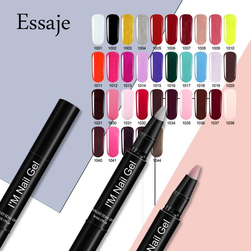 ESSAJE 35 Colorful Gel Nails Polish Pen Nail Art Soak Off