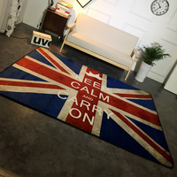 Patriotic Soft Home Textile British Flag Anti Slip Chair Pad Big Area Rug Outdoor Mats Floor