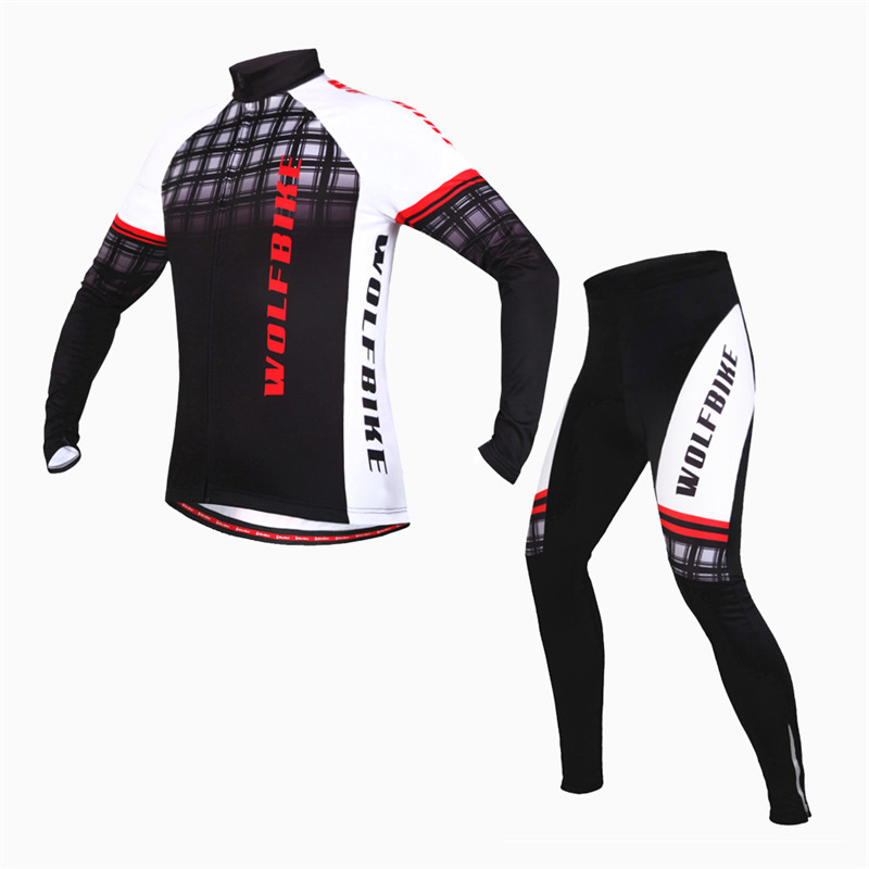 WOSAWE Winter Thermal Fleece Long Sleeve Cycling Jersey Ciclismo Cycling Clothing SportWear Bike Bicycle Clothes Set
