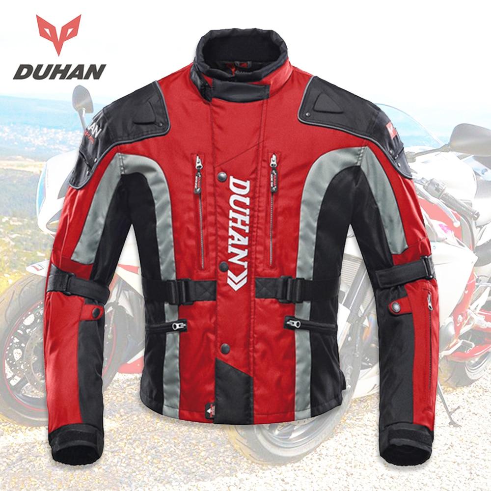 DUHAN motorkerékpár kabát Motocross felszerelés felszerelés Férfi motorkerékpár hidegbiztos Moto ruházat Oxford szövet pamut fehérnemű